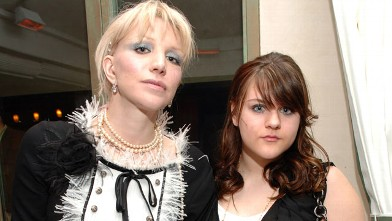 PHOTO: Courtney Love and Frances Bean Cobain at Paris Hilton Birthday Dinner on February 25, 2007 at The Prime Grill Beverly Hills in this file photo.