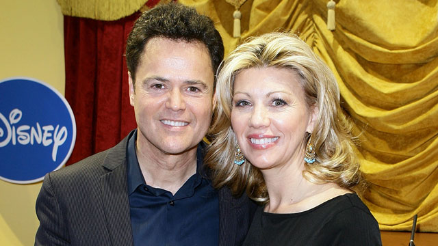 "PHOTO: Entertainer Donny Osmond and his wife Debbie Osmond attend ""Dance Star Mickey"" at the Mattel Inc. Showroom on February 15, 2010 in New York City."