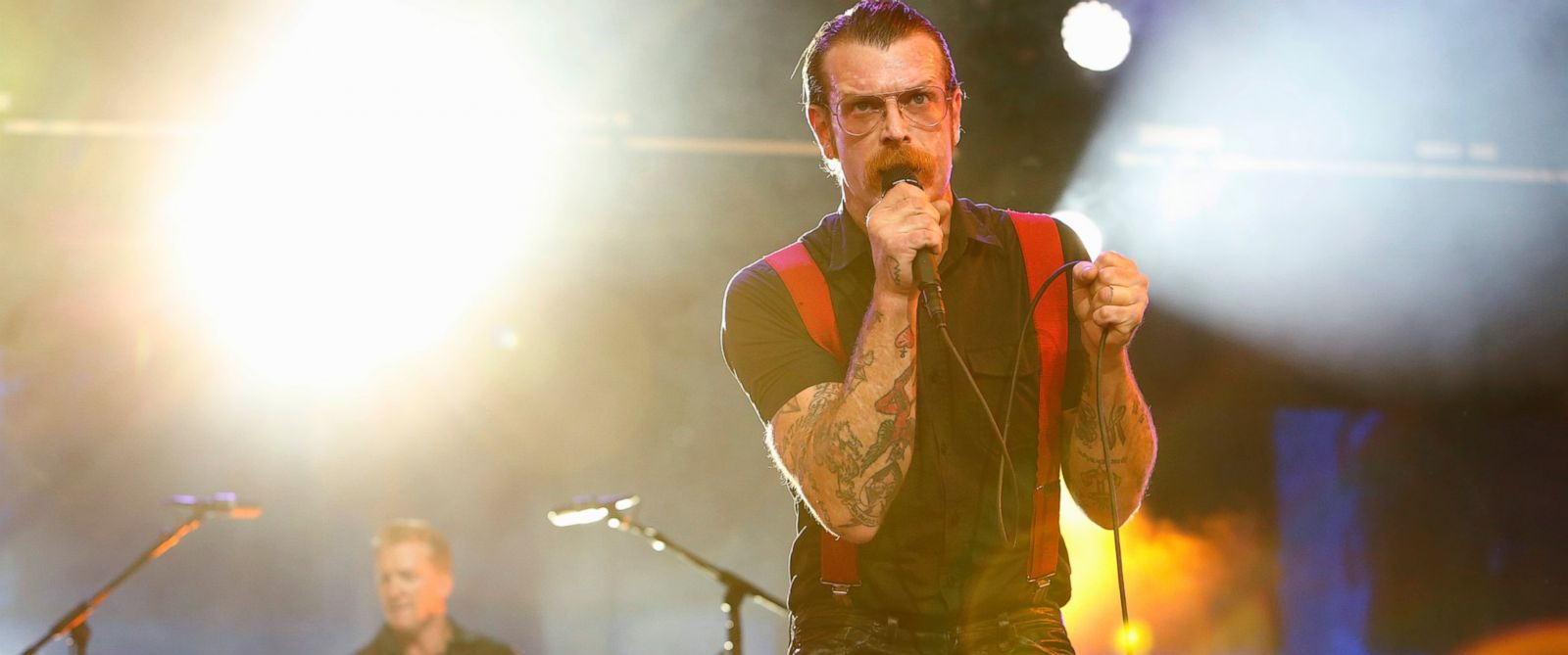 "PHOTO: Eagles of Death Metal perform on ""Jimmy Kimmel Live."""