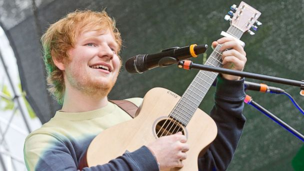 PHOTO: British singer Ed Sheeran performs live during a concert at the Alexa on June 23, 2014 in Berlin, Germany.