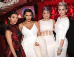 PHOTO: From left: Kourtney Kardashian, Kim Kardashian, Kelly Osbourne and Miley Cyrus attend the 21st Annual Elton John AIDS Foundation Academy Awards Viewing Party at Pacific Design Center, Feb. 24, 2013 in West Hollywood, Calif.