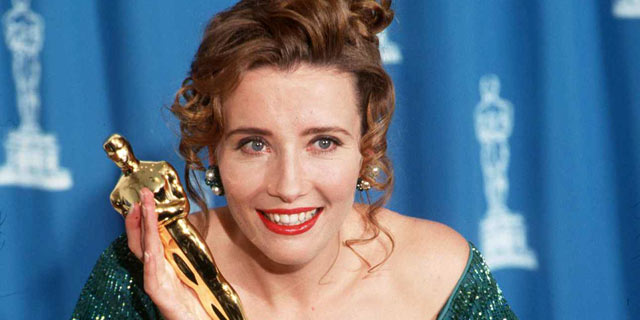 PHOTO: Emma Thompson with her Best Actress Oscar in Los Angeles, Cali in this 1993 file photo.