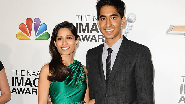 PHOTO: Actress Freida Pinto and actor Dev Patel attend the 44th NAACP Image Awards at The Shrine Auditorium, Feb. 1, 2013, in Los Angeles.