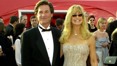 PHOTO: Goldie Hawn and Kurt Russell arriving for the 73rd Academy Awards on March 25, 2001.