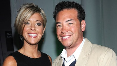 PHOTO: Kate Gosselin and Jon Gosselin attend Discovery Upfront at Jazz at Lincoln Center, April 2, 2009 in New York City.