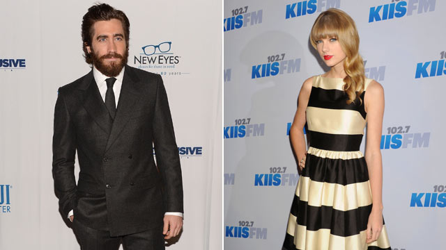PHOTO: Actor Jake Gyllenhaal, left, attends the New Eyes for the Needy 80th Anniversary Gala at Colicchio & Sons on November 19, 2012 in New York City while his rumored ex-girlfriend, Taylor Swift, right, Taylor Swift attends KIIS FM's 2012 Jingle Ball at
