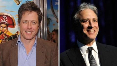 gty gty hugh grant jon stewart jef 121214 wblog Jon Stewart Bans Hugh Grant From Daily Show, Also Doesnt Like Cat Stevens
