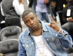 PHOTO: Rapper Gucci Mane attend the New York Knicks vs. Atlanta Hawks at Philips Arena on March 6, 2011 in Atlanta, Ga.