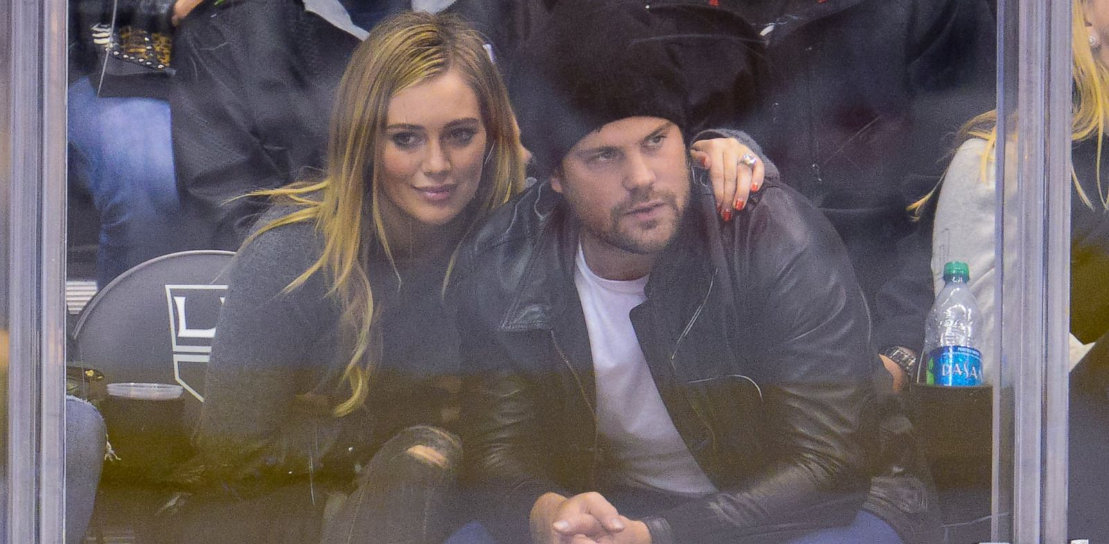 PHOTO: Hilary Duff and Mike Comrie are seen in this Nov. 2, 2013 file photo attending a hockey game at the Staples Center in Los Angeles, Calif.