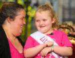 PHOTO: Alana Honey Boo Boo Thompson and her mother June Shannon visit Extra at The Grove, Oct. 15, 2012, Los Angeles.