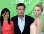PHOTO: Hilaria Thomas, Alec Baldwin, and Ireland Baldwin attend the Group For The East Ends 40th Anniversary Benefit And Auction at Wolffer Estate Vineyard, June 23, 2012, Sagaponack, N.Y.