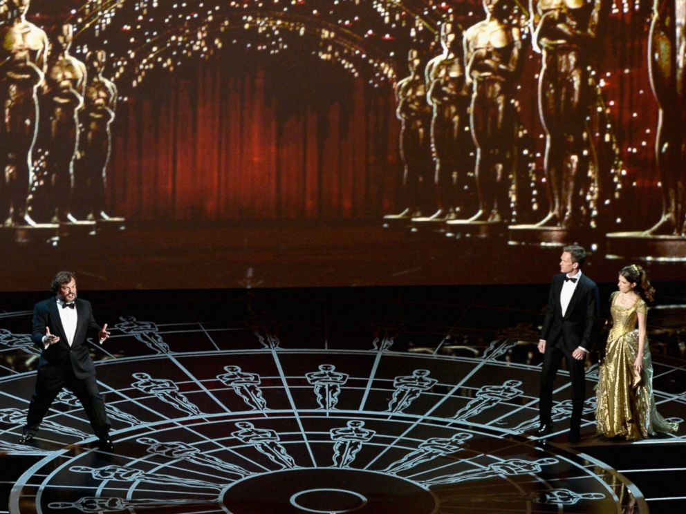 PHOTO: Jack Black, Neil Patrick Harris and Anna Kendrick perform onstage during the 87th Annual Academy Awards at Dolby Theatre on Feb. 22, 2015 in Hollywood, California.