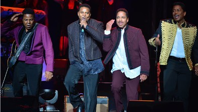 PHOTO: Tito Jackson, Jackie Jackson, Marlon Jackson and Jermaine Jackson of The Jackson Family perform their Unity Tour opener at the Casino Rama on June 20, 2012 in Orillia, Canada.