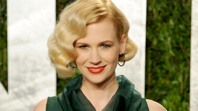 PHOTO: January Jones arrives at the 2012 Vanity Fair Oscar Party hosted by Graydon Carter at Sunset Tower in this Feb. 26, 2012 file photo in West Hollywood, Cali.