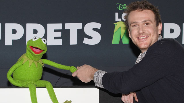 "PHOTO: Kermit the Frog and actor Jason Segel attend a photocall to promote the new film ""The Muppets"" at the Four Seasons Hotel, Mexico City, Mexico, Oct. 28, 2011."