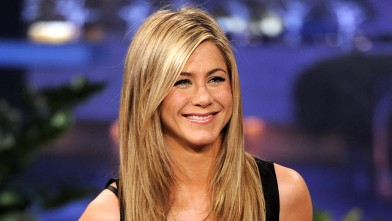 PHOTO: Actress Jennifer Aniston appears on the Tonight Show With Jay Leno at NBC Studios, Feb. 24, 2012 in Burbank, California.