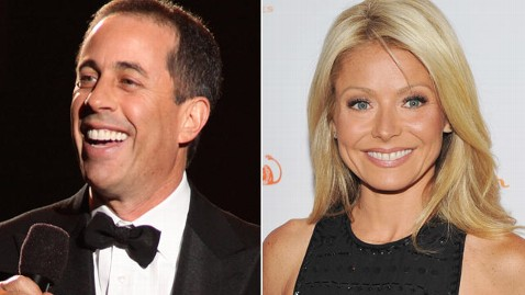 gty jerry seinfeld kelly ripa wy 111101 wblog Jerry Seinfeld to Be First Guest Co Host on Live! With Kelly