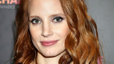 """PHOTO: Jessica Chastain arrives at the Royal Box photo wall ahead of the """"Chime For Change: The Sound Of Change Live"""" Concert at Twickenham Stadium, June 1, 2013 in London."""