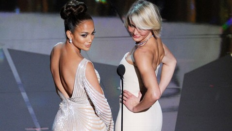 gty jlo cameron back 120226 wblog The Oscars: Did Jennifer Lopez Have a Wardrobe Malfunction?