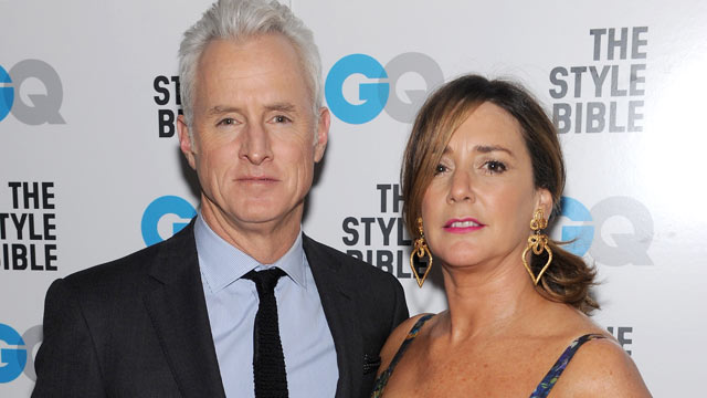 PHOTO: John Slattery and Talia Balsam attend the GQ And John Slattery Celebrate The Launch Of The April 2012 Issue at The Jane Hotel on March 12, 2012 in New York City.