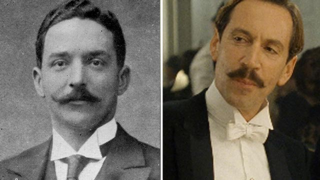 "PHOTO: Joseph Bruce Ismay, right, passenger on the Titanic. Jonathan Hyde is seen in a scene from the movie ""Titanic"" portraying Joseph Bruce Ismay."