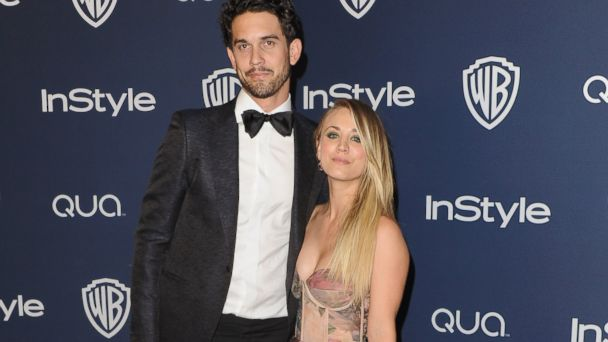 PHOTO: Actress Kaley Cuoco and husband Ryan Sweeting arrive at the 2014 InStyle And Warner Bros. 71st Annual Golden Globe Awards Post-Party on Jan. 12, 2014 in Beverly Hills, Calif.