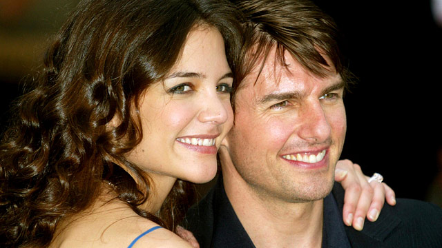 "PHOTO: Katie Holmes and Tom Cruise are seen at ""War of the Worlds"" London Premiere at Odeon Leicester Square in London, Great Britain."