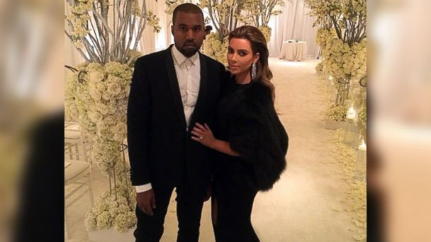 PHOTO: Kanye West and Kim Kardashian appear in a photo that was posted to Kardashians Instagram feed on January 12, 2014.