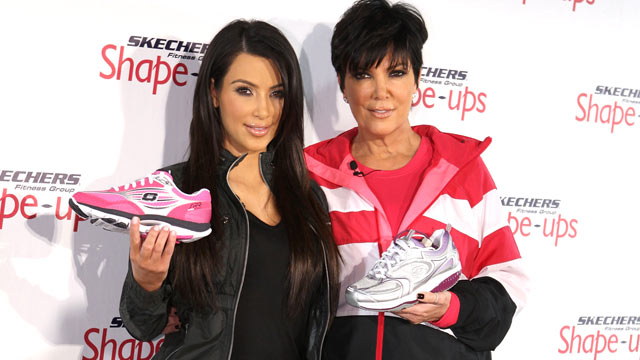 PHOTO: Kim Kardashian and Kris Jenner attend the SKECHERS Shape-Ups press conference, Nov. 22, 2010 in Beverly Hills, California.