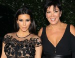 PHOTO: Kim Kardashian and Kris Jenner attend the Topshop Topman LA Opening Party held at Cecconis Restaurant on Feb. 13, 2013 in Los Angeles.