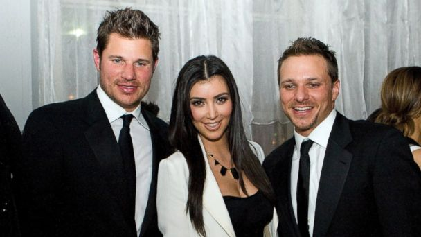 PHOTO: Nick Lachey,Kim Kardashian, and Drew Lachey attend the 2nd Annual Derby Spectacular Celebration at Glassworks on May 1, 2009 in Louisville, Kentucky.