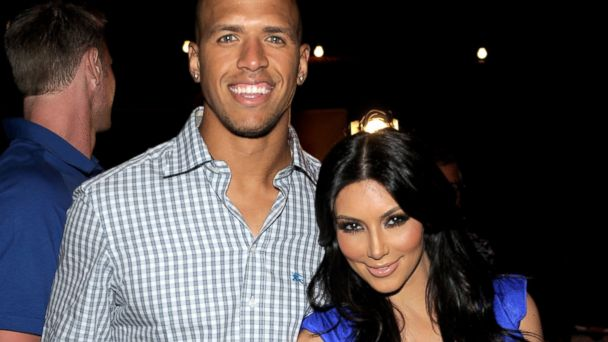PHOTO: Dallas Cowboys football player Miles Austin and actress Kim Kardashian attend professional tennis player Serena Williams Pre-ESPYs House Party held at a private residence on July 12, 2010 in Bel Air, California.