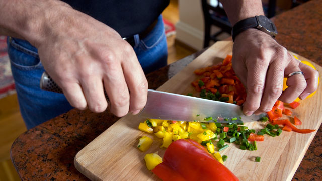 PHOTO: A good set of kitchen knives are important tools for healthy cooking.