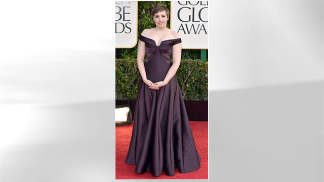 PHOTO: Actress-director Lena Dunham arrives at the 70th Annual Golden Globe Awards held at The Beverly Hilton Hotel, Jan. 13, 2013 in Beverly Hills.