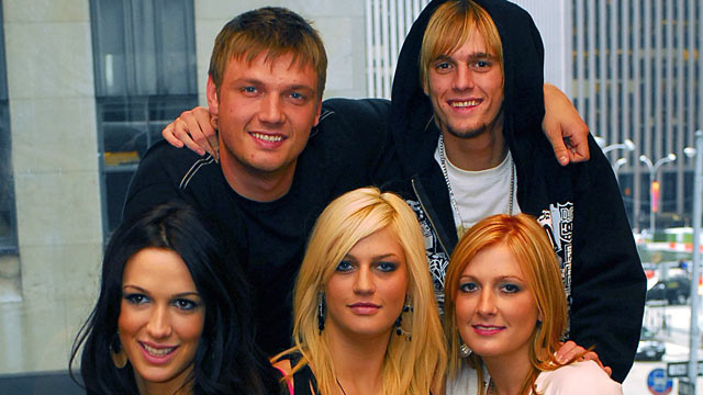 PHOTO: Top left clockwise: Singer Nick Carter, Aaron Carter, Angel Carter, Leslie Carter, Bobbie Jean Carter pose for a family portrait.