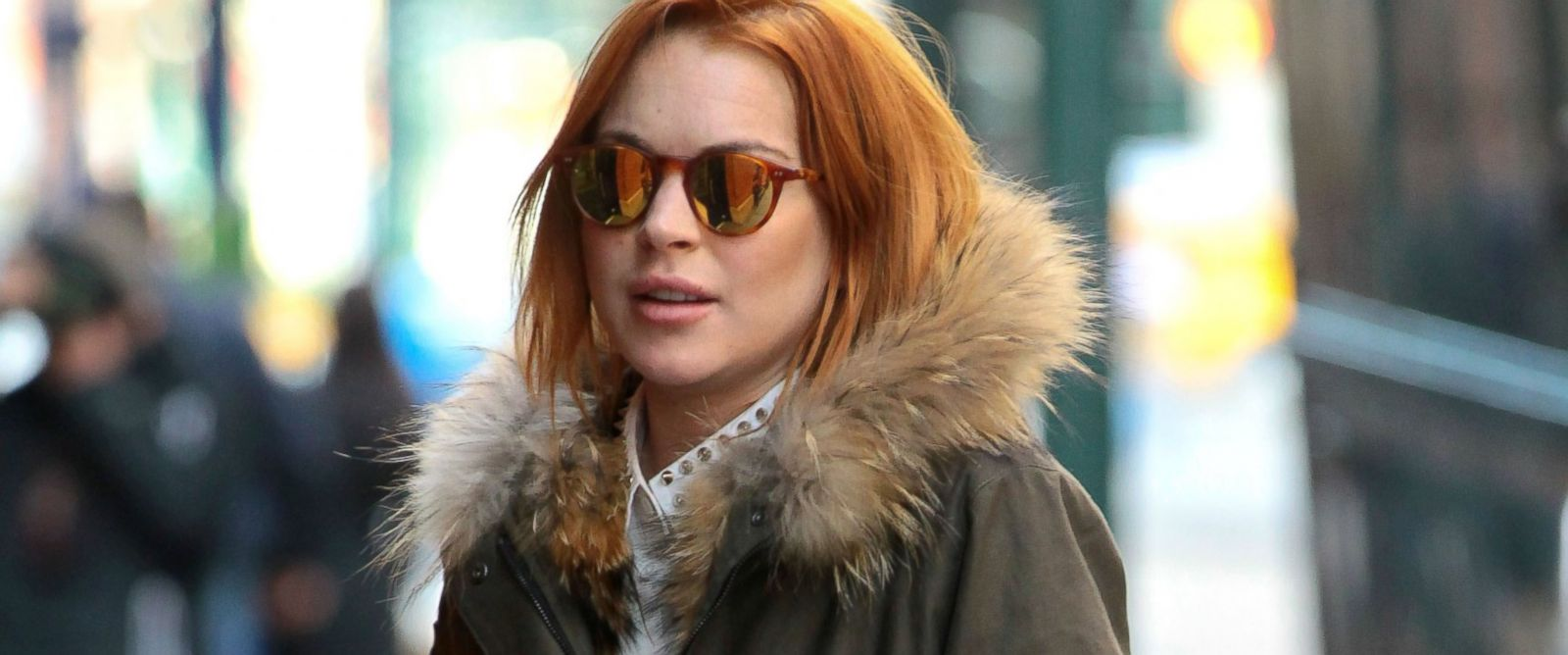 PHOTO: Lindsay Lohan is seen on March 24, 2014 in New York City.