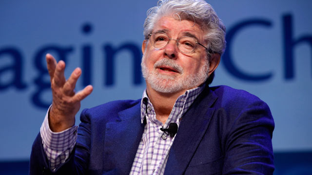 PHOTO: Filmmaker George Lucas addresses the Investment Company Institutes annual general membership meeting at the Marriott Wardman Park hotel May 11, 2012 in Washington, DC in this file photo.
