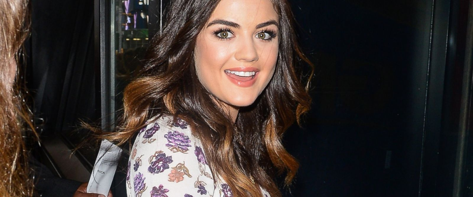 """PHOTO: Actress and singer Lucy Hale enters the """"Good Morning America"""" taping at the ABC Times Square Studios on June 30, 2014 in New York City."""