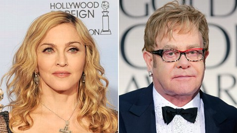gty madonna elton john jp 120116 wblog Madonna, Elton John and David Furnish Make Up