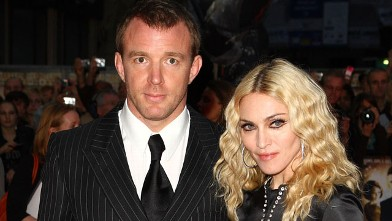 PHOTO: Guy Ritchie and Madonna attend the world premiere of RocknRolla at Odeon West End, Sept. 1, 2008 in London, England.