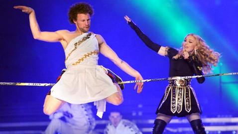gty madonna tightrope dm 120206 wblog Andy Lewis, Madonnas Slack Line Dancer, on Scary, Spectacular Super Bowl Show