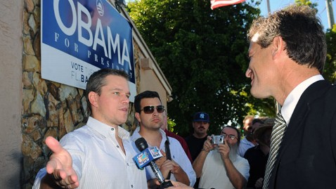 gty matt damon obama jp 111222 wblog Matt Damon Down on President Obama in Elle Interview
