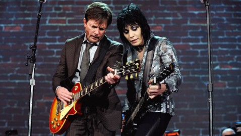 gty michal j fox joan jett thg 111114 wblog Michael J. Fox Revives Back to the Future Role