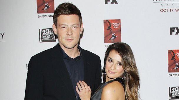 "PHOTO: Cory Monteith and Lea Michele arrive at the Los Angeles premiere of ""American Horror Story: Asylum"" held at Paramount Studios on Oct. 13, 2012 in Hollywood."