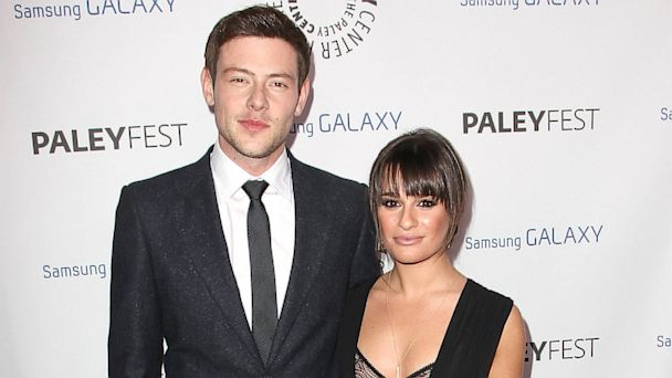 PHOTO: Cory Monteith and Lea Michele arrive to the Inaugural PaleyFest Icon Award honoring Ryan Murphy at The Paley Center for Media on Feb. 27, 2013 in Beverly Hills.