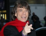 """PHOTO: Singer Mick Jagger arrives to """"Late Show with David Letterman"""" at Ed Sullivan Theater, Dec. 11, 2012 in New York City."""