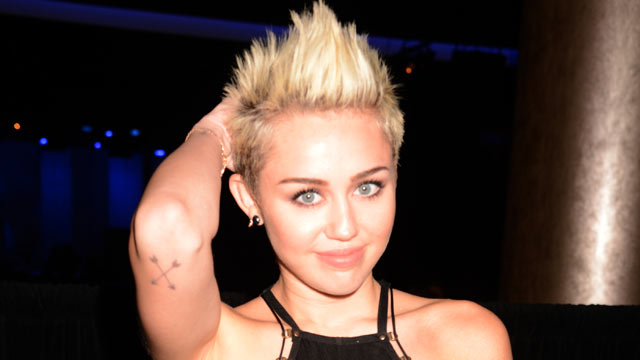 PHOTO: Singer Miley Cyrus attends the Clive Davis and The Recording Academy's 2013 GRAMMY Salute to Industry Icons Gala held at The Beverly Hilton Hotel on Feb. 9, 2013 in Beverly Hills, Calif.