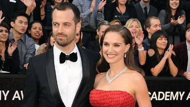 PHOTO: Natalie Portman and Benjamin Millepied arrive at the 84th Annual Academy Awards held at Hollywood & Highland Centre, Feb. 26, 2012 in Hollywood, Calif.