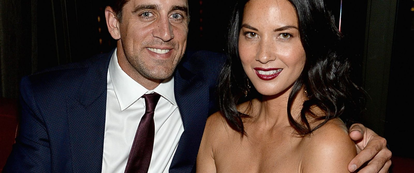 PHOTO: Aaron Rodgers and Olivia Munn at The Skylark, June 24, 2014, in New York.