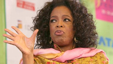 PHOTO: Oprah Winfrey speaks during the Jaipur Literature Festival 2012 on Jan. 22, 2012.